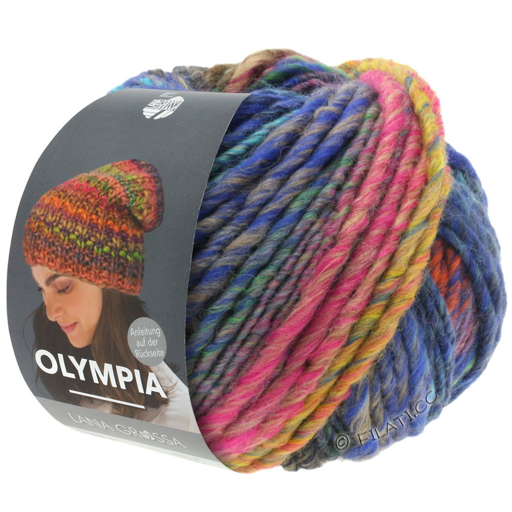 Lana Grossa OLYMPIA Classic | 065-pink/copper/petrol/khaki/dark blue/green yellow/turquoise