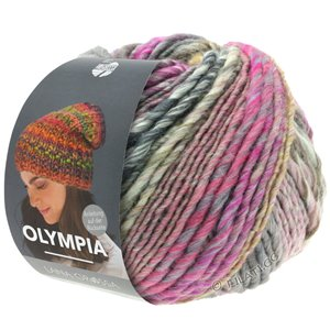 Lana Grossa OLYMPIA Classic | 066-cyclamen/raw white/light gray/lilac/camel