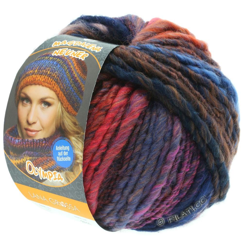 Lana Grossa OLYMPIA Classic | 067-dark blue/orange/pink/gray blue/red/blue