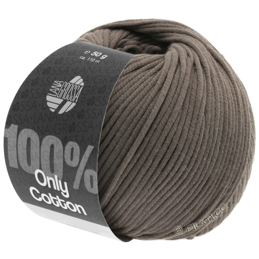 Lana Grossa ONLY COTTON | 04-gray brown