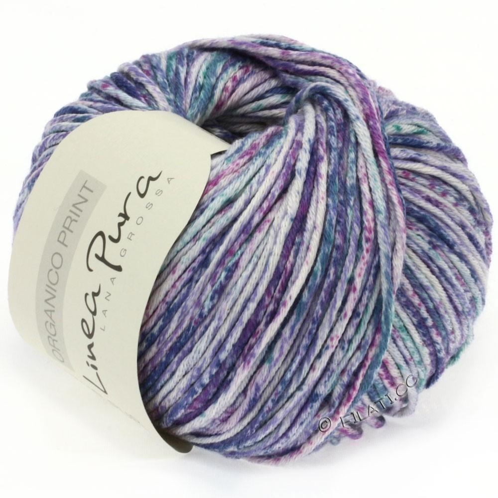 Lana Grossa ORGANICO Print (Linea Pura) | 206-natural/purple/petrol/jeans