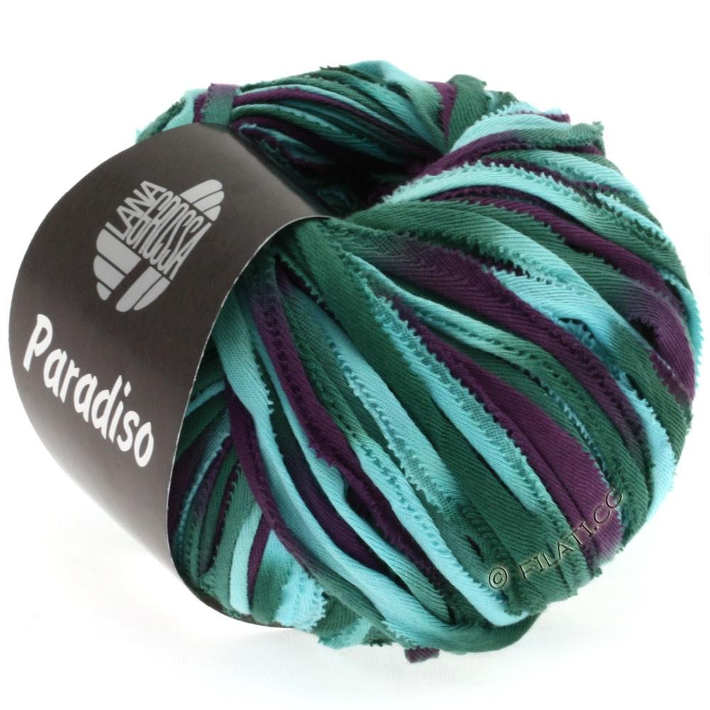 Lana Grossa PARADISO Uni/Print | 103-turquoise/petrol/eggplant