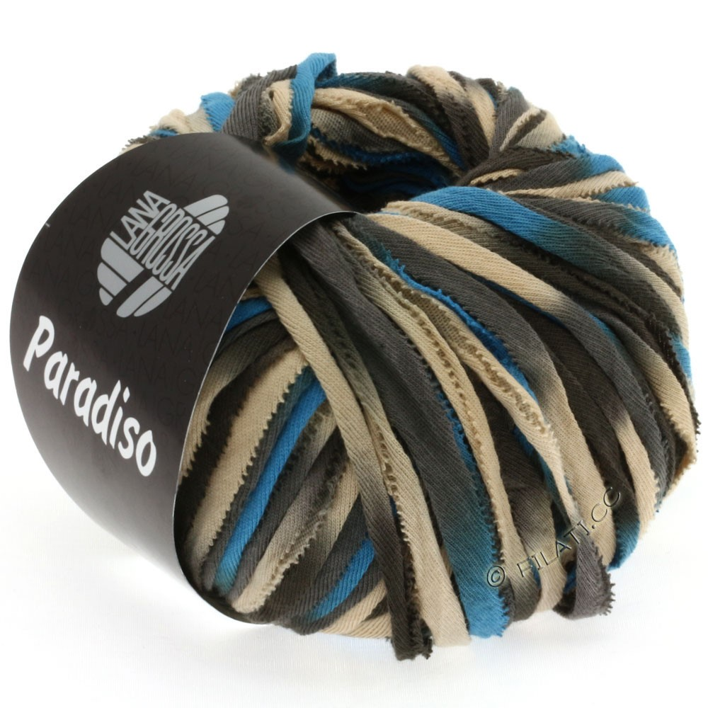 Lana Grossa PARADISO Uni/Print | 104-beige/brown/grège/blue