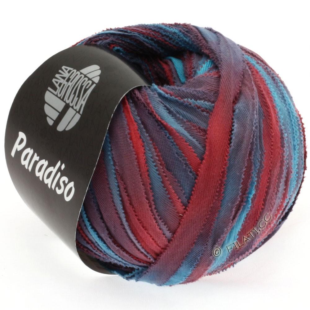 Lana Grossa PARADISO Uni/Print | 301-turquoise/petrol/red brown/plum/brick red