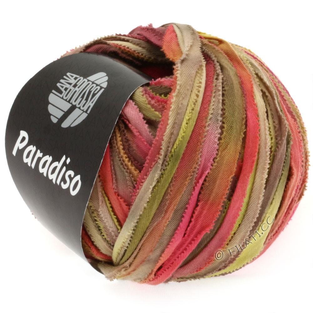 Lana Grossa PARADISO Uni/Print | 303-brick red/mustard/beige/gray brown/khaki