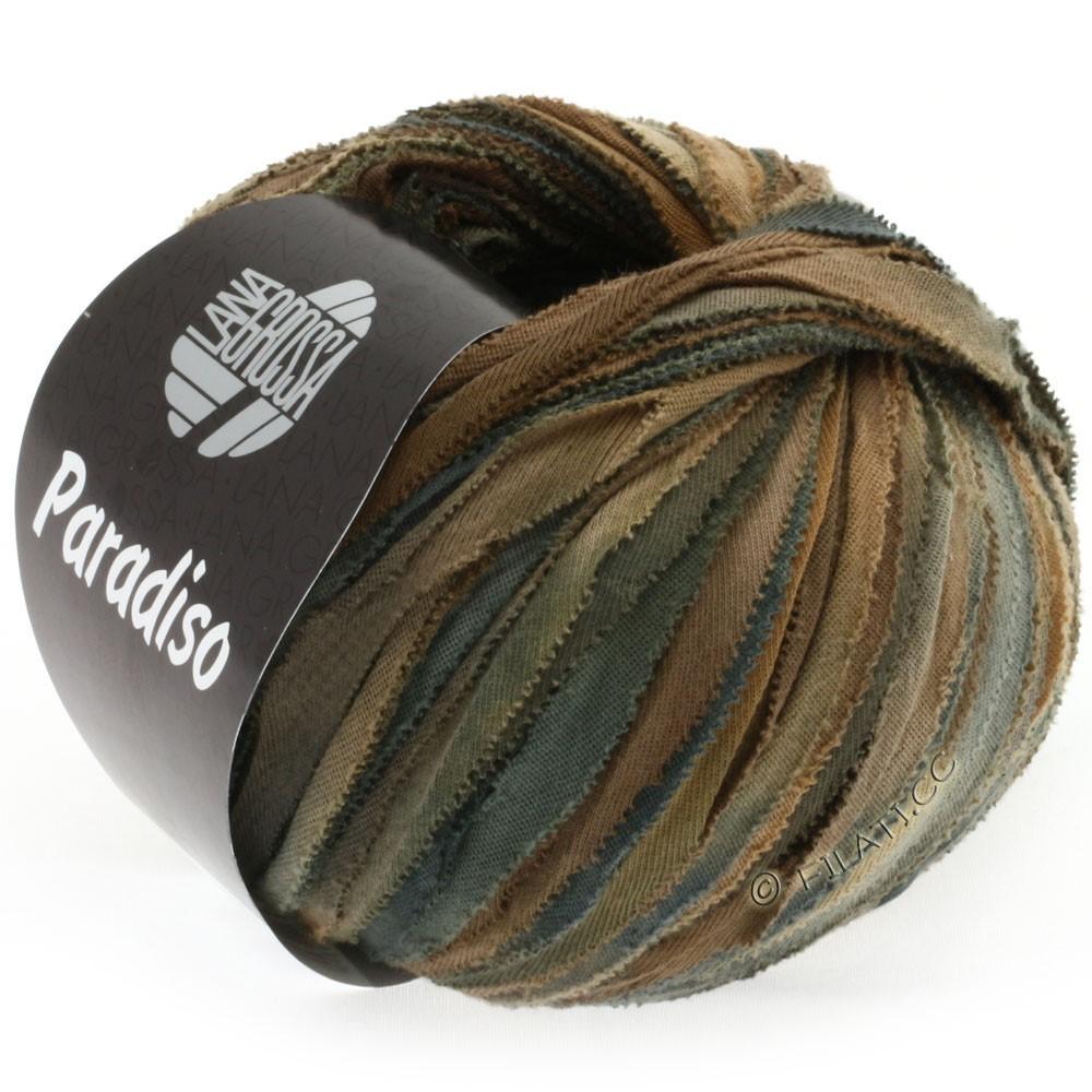 Lana Grossa PARADISO Uni/Print | 304-fawn/dark brown/anthracite