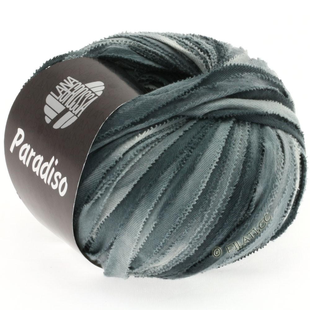 Lana Grossa PARADISO Uni/Print | 305-light gray/green gray/anthracite