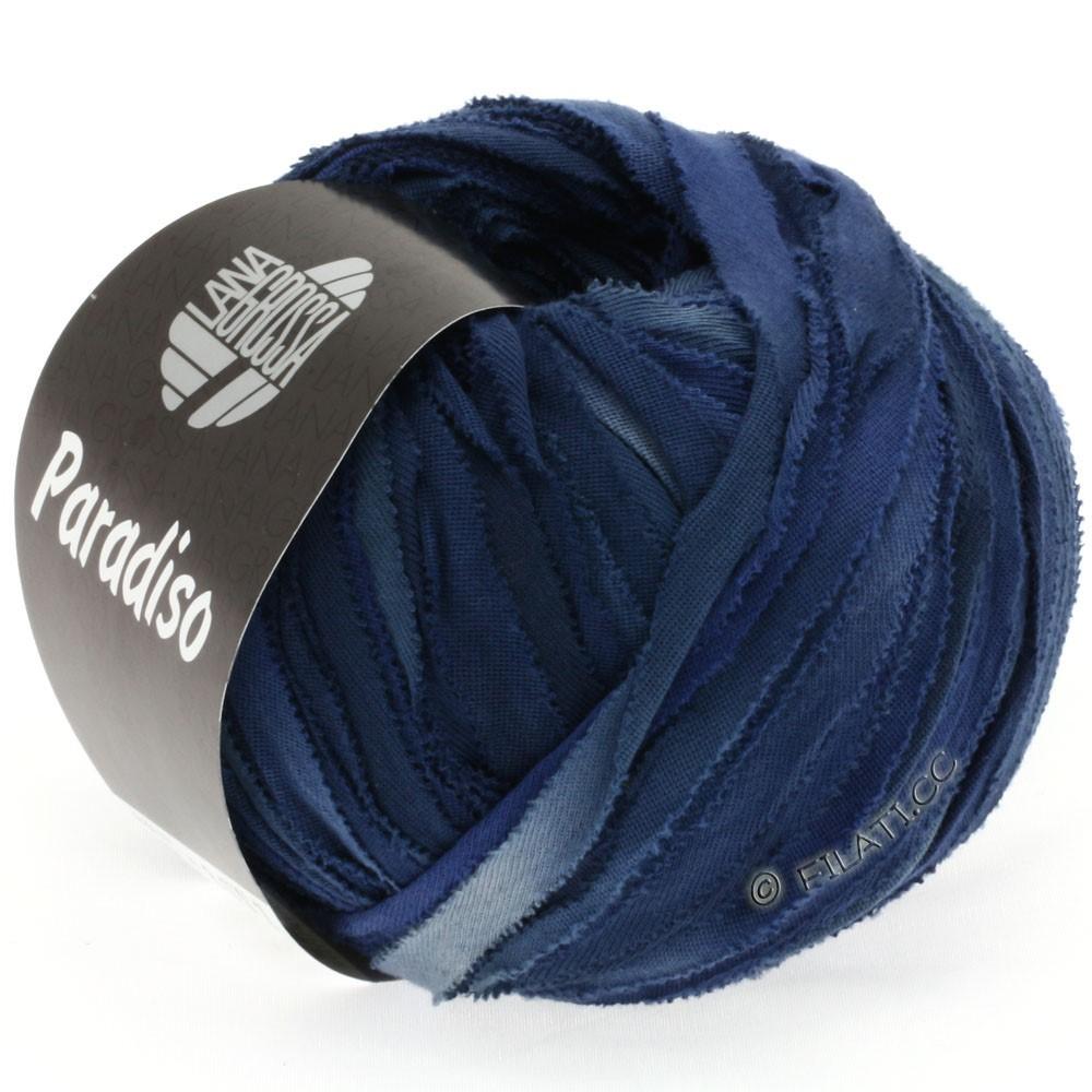 Lana Grossa PARADISO Uni/Print | 306-steel gray/navy/midnight blue