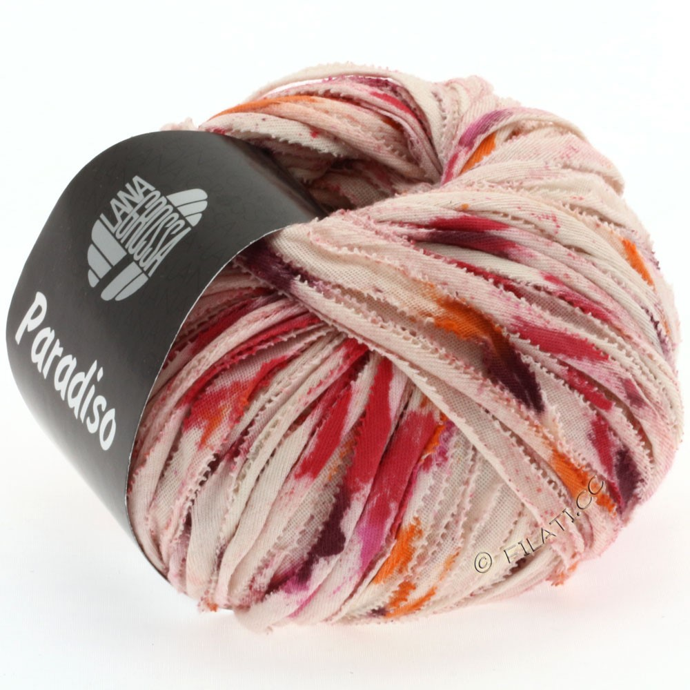 Lana Grossa PARADISO Uni/Print | 503-natural/orange/pink/blackberry