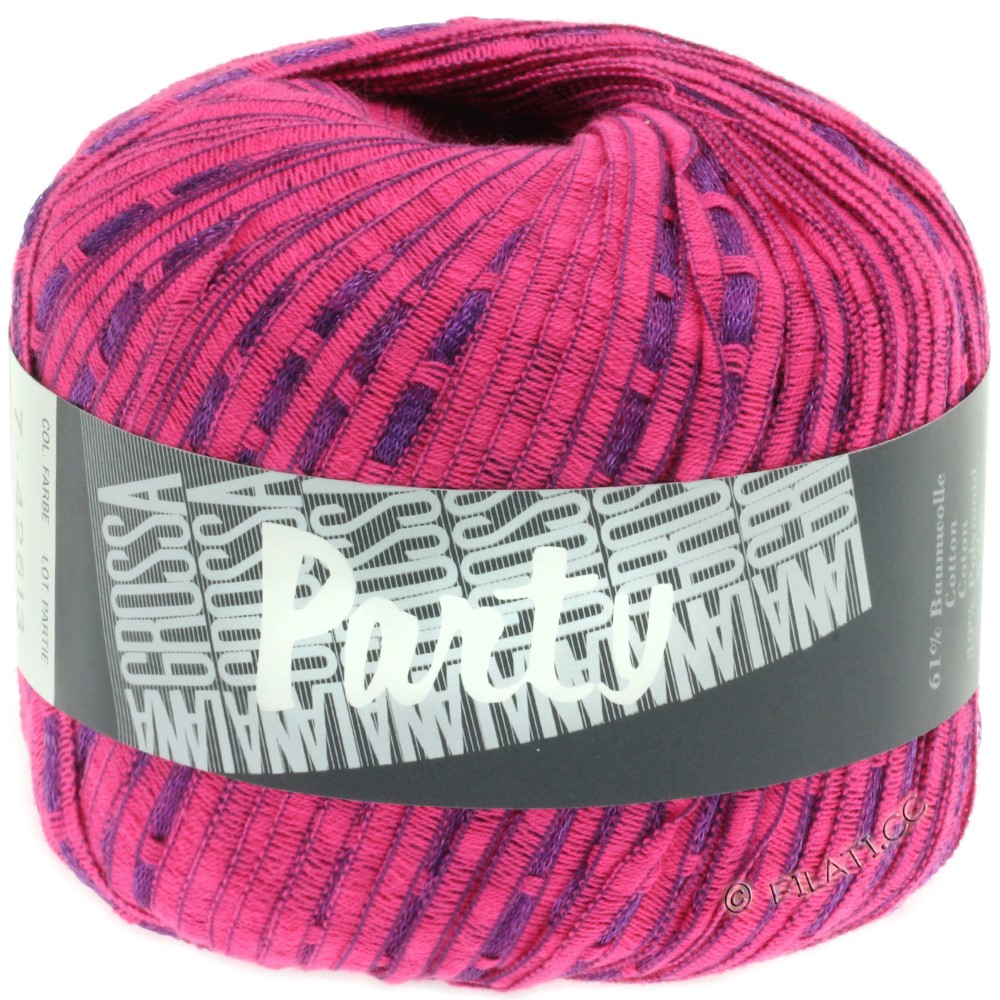 Lana Grossa PARTY Uni/Print | 07-pink/purple