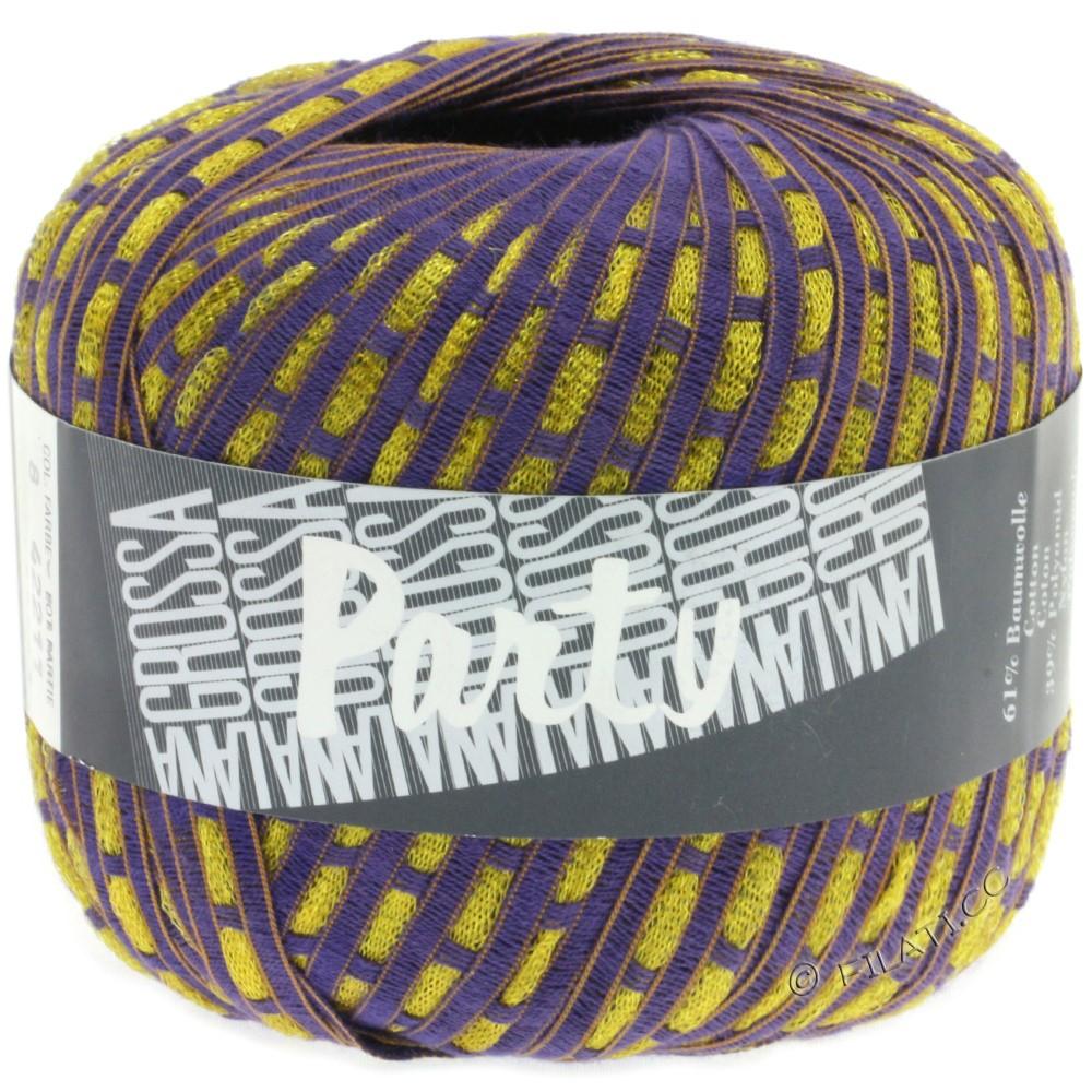 Lana Grossa PARTY Uni/Print | 08-violet/gold