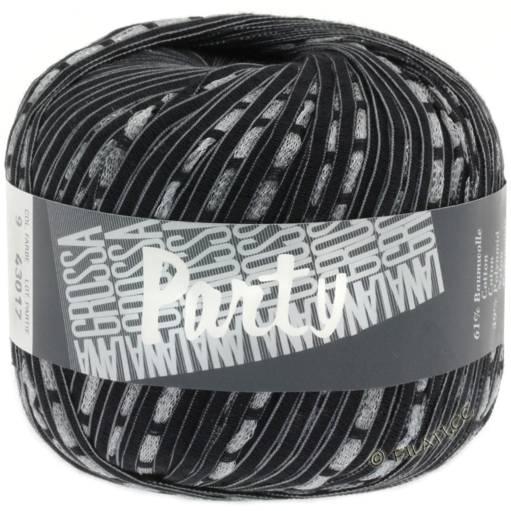 Lana Grossa PARTY Uni/Print | 09-black/silver