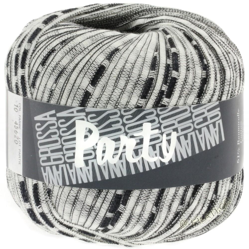 Lana Grossa PARTY Uni/Print | 10-white/black