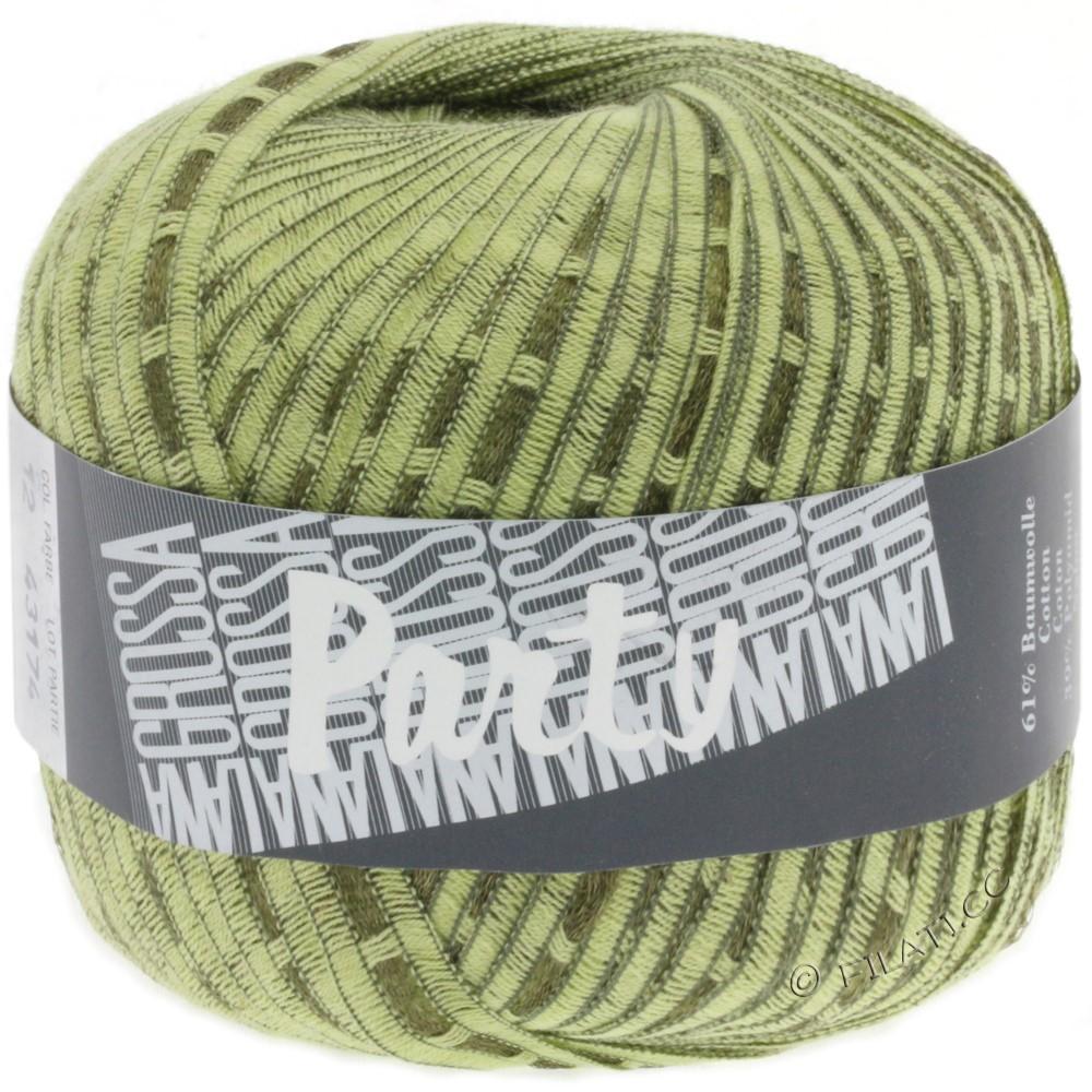 Lana Grossa PARTY Uni/Print | 12-light green/dark green