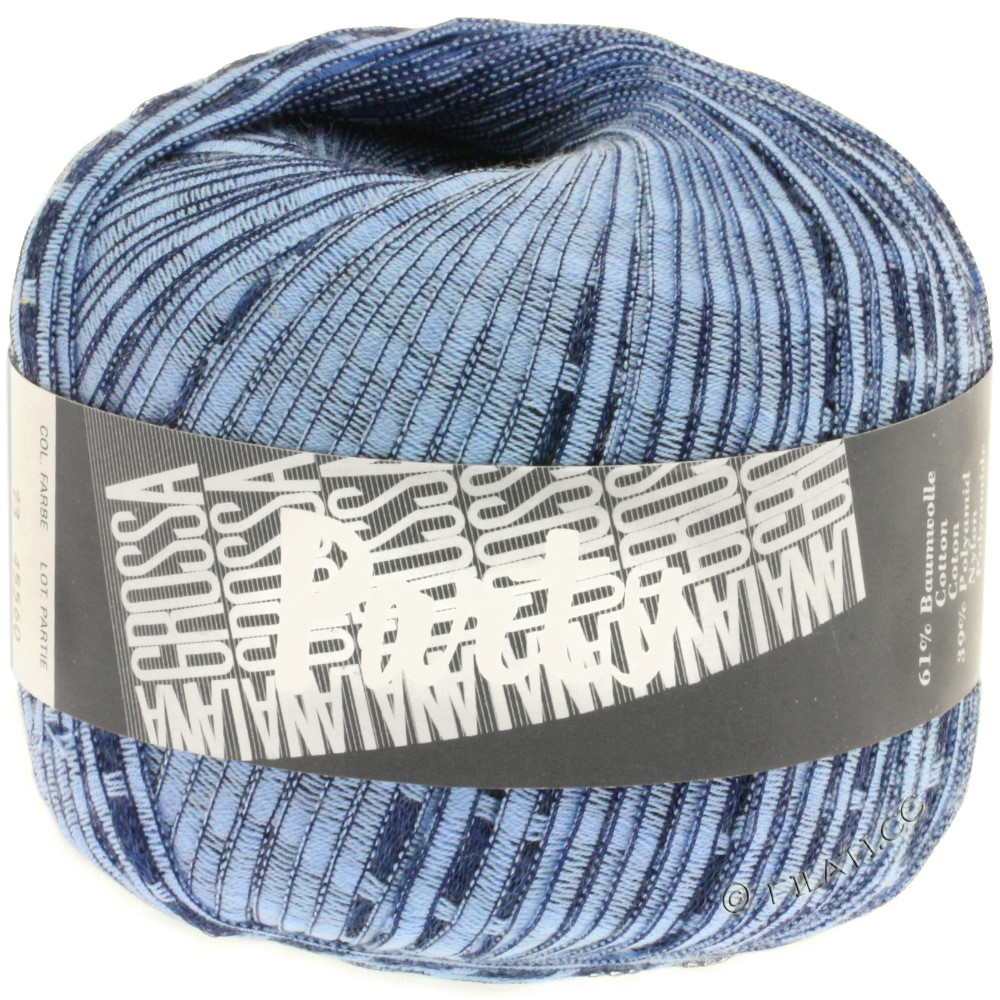 Lana Grossa PARTY Uni/Print | 13-light blue/dark blue
