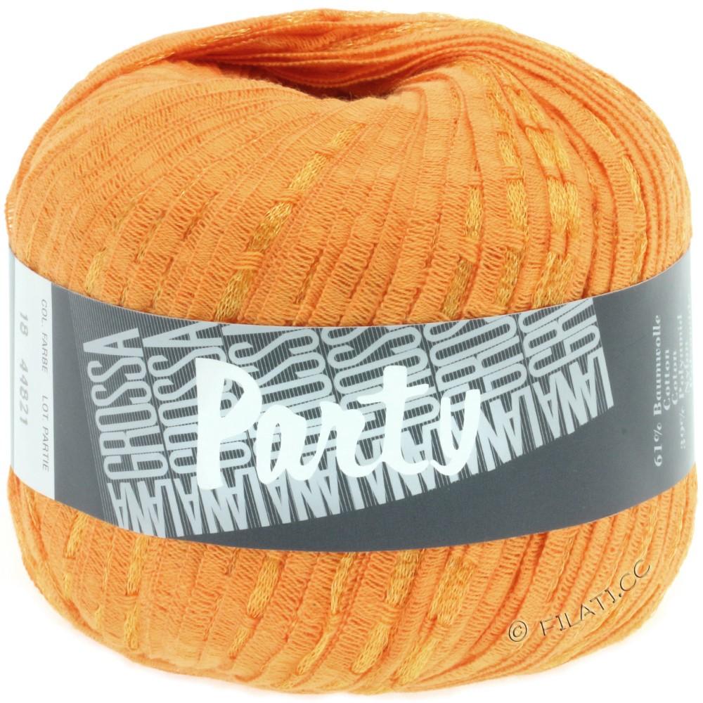 Lana Grossa PARTY Uni/Print | 18-orange/gold