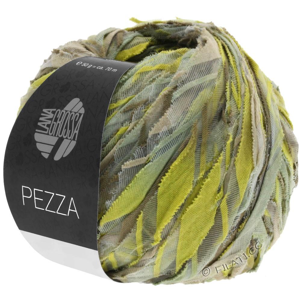 Lana Grossa PEZZA | 02-beige/green yellow/khaki/reed