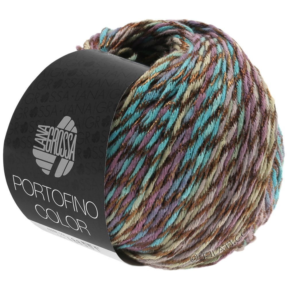 Lana Grossa PORTOFINO Color | 102-petrol/antique violet/gray brown