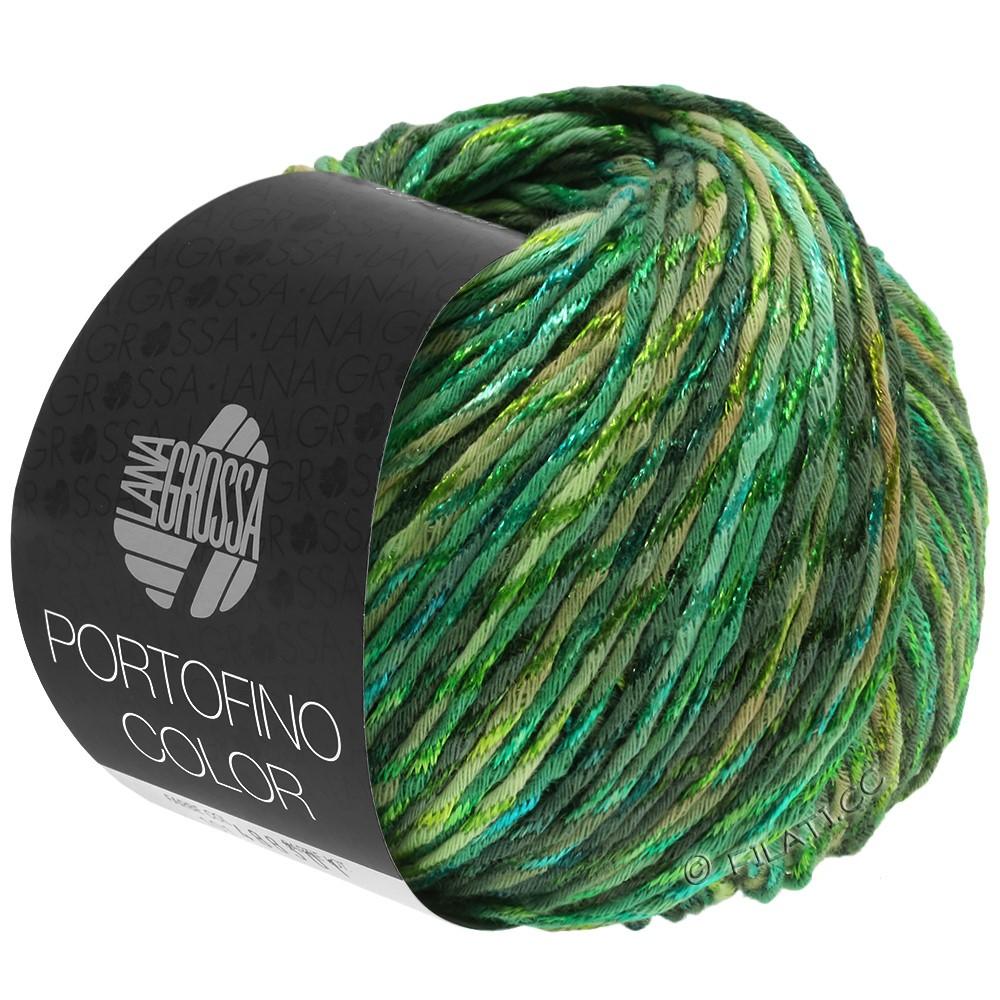 Lana Grossa PORTOFINO Color | 105-reed green/linden green/grass green/fir