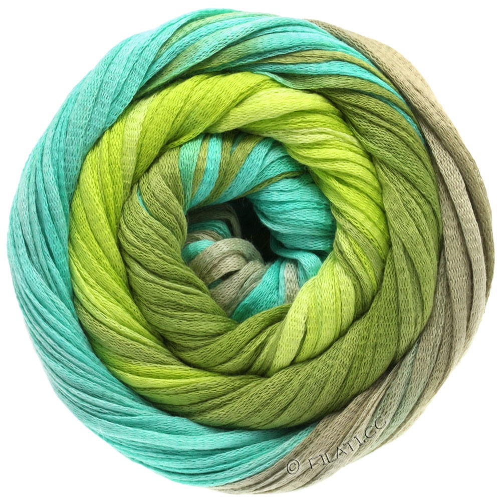 Lana Grossa PRIMAVERA | 102-may green/light green/turquoise/platinum gray
