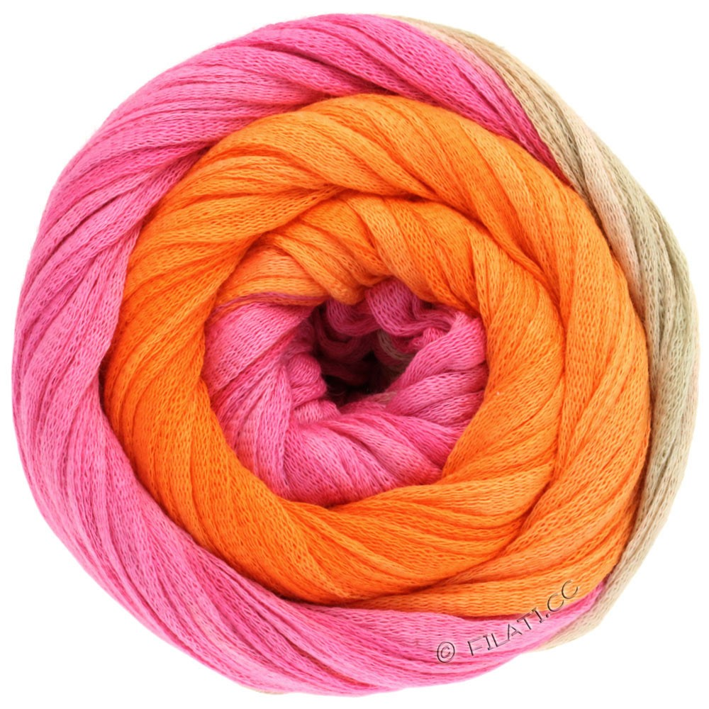 Lana Grossa PRIMAVERA | 117-pink/pearl beige/orange