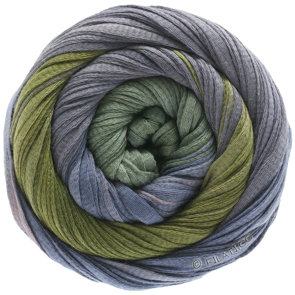 Lana Grossa PRIMAVERA | 129-mauve/steel blue/dark khaki