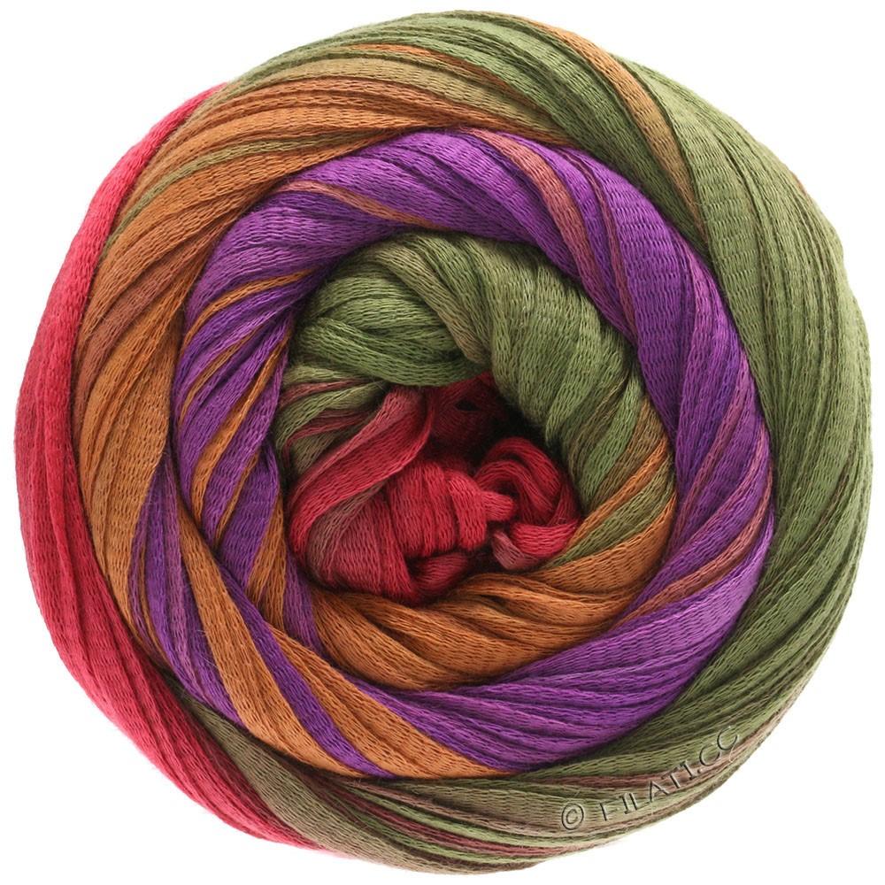 Lana Grossa PRIMAVERA | 131-red violet/cinnamon/olive/orient red
