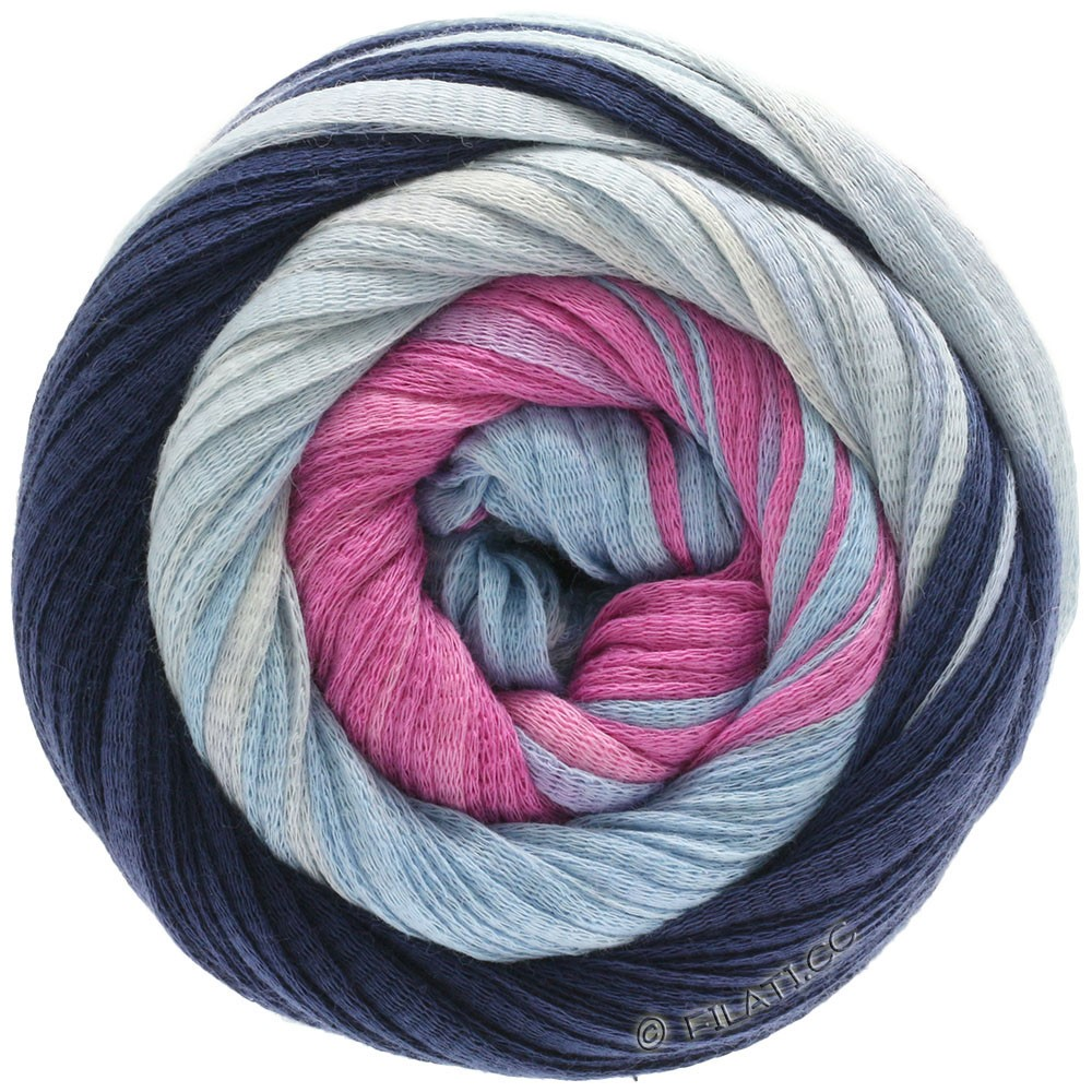 Lana Grossa PRIMAVERA | 132-dark blue/light blue/pink/rose/natural