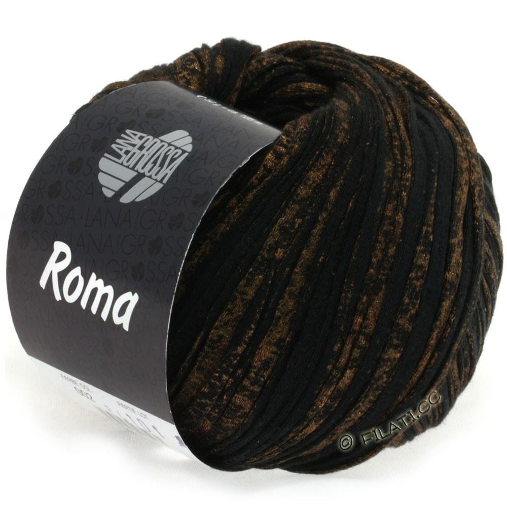 Lana Grossa ROMA | 002-black/gold