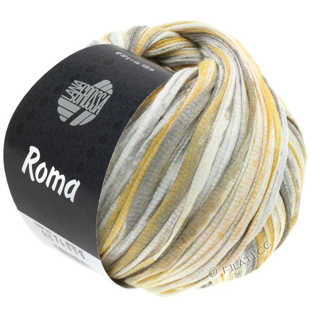 Lana Grossa ROMA | 015-white/gold/silver