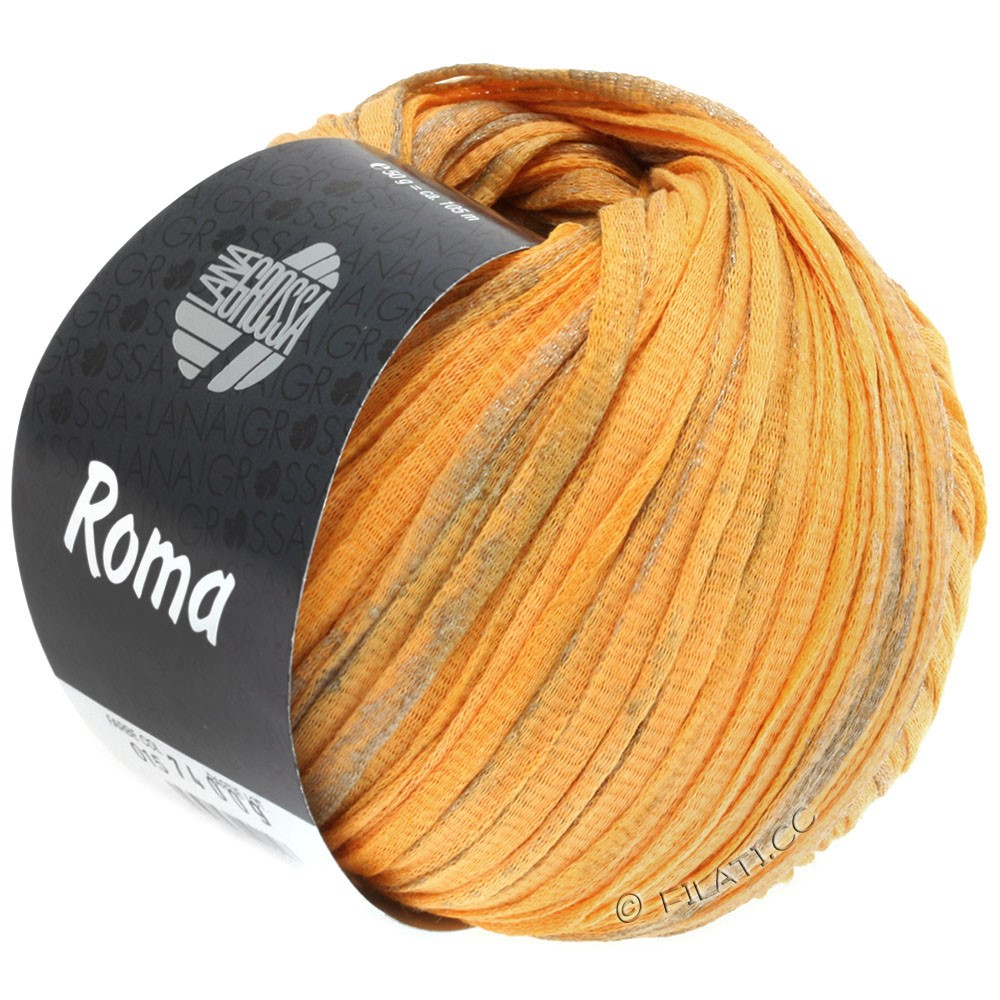 Lana Grossa ROMA/ROMA Degradè | 018-orange yellow/silver/gold