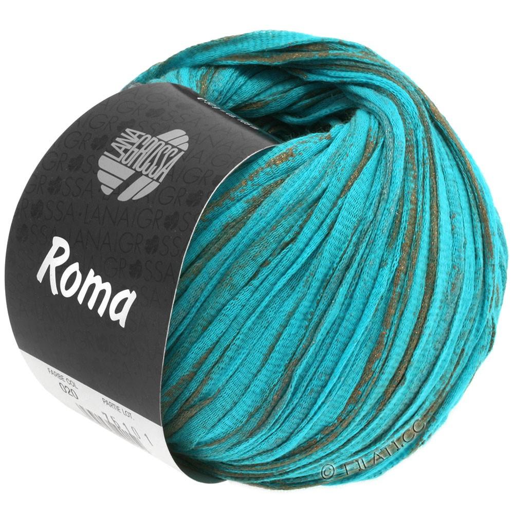 Lana Grossa ROMA | 020-aqua/copper/silver