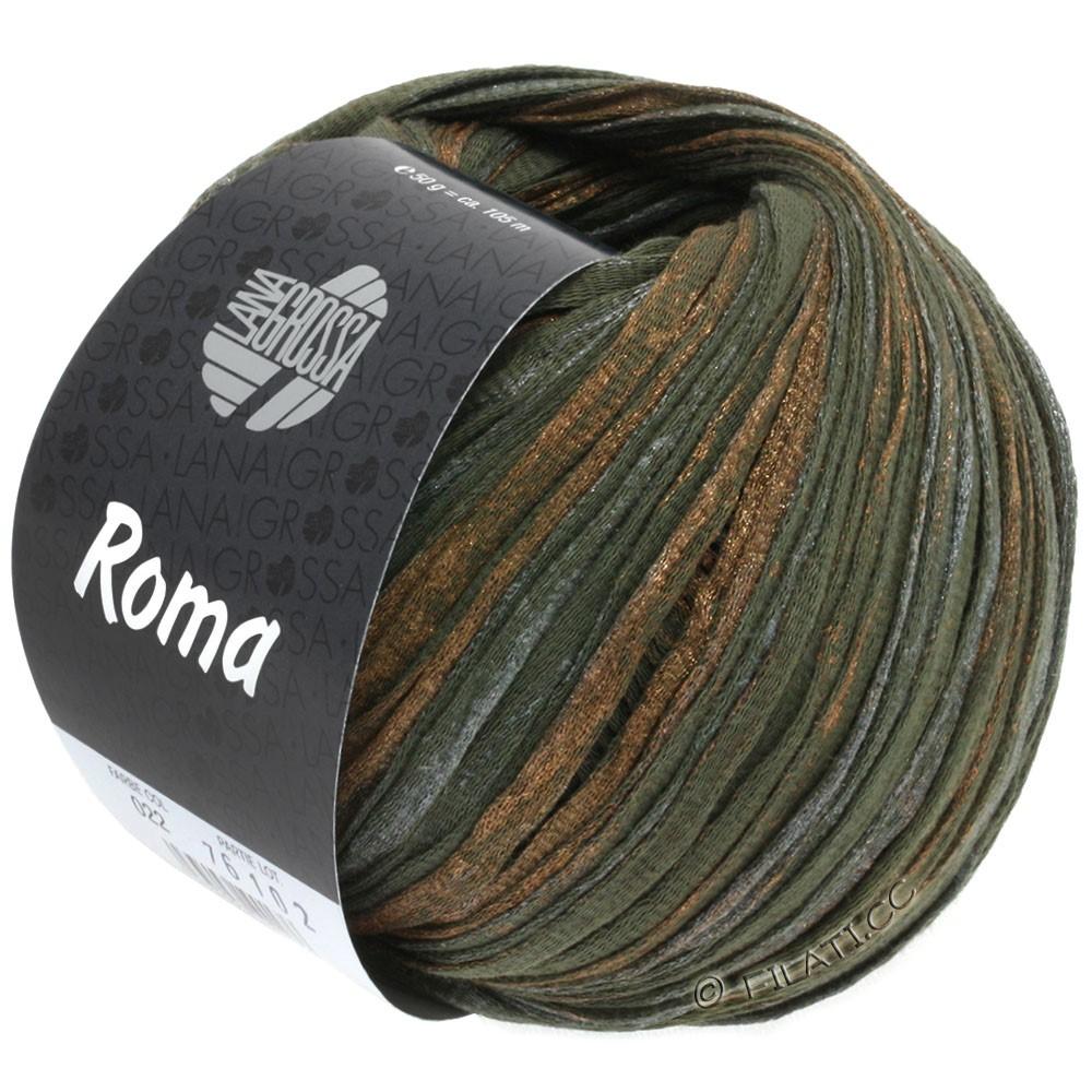 Lana Grossa ROMA | 022-mud/copper/silver
