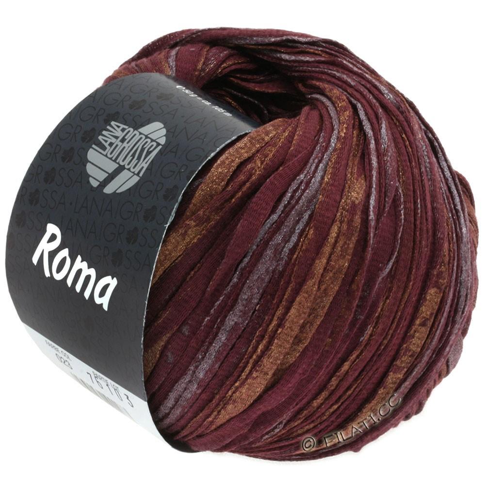 Lana Grossa ROMA | 023-bordeaux/copper/silver