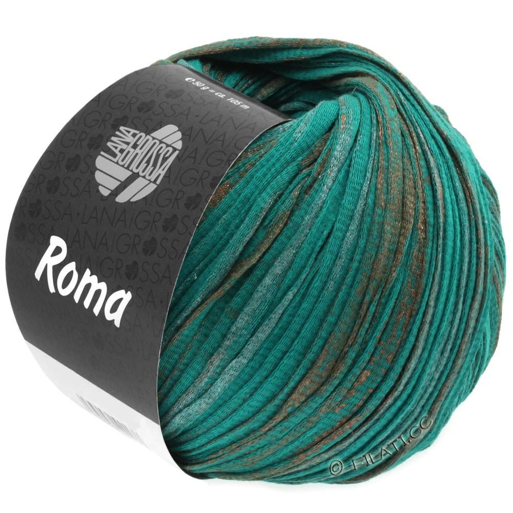 Lana Grossa ROMA | 027-opal green/copper/silver