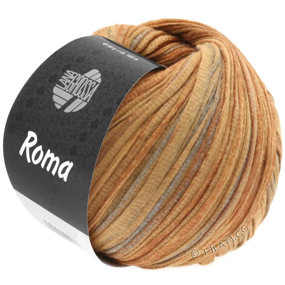 Lana Grossa ROMA | 029-golden brown/copper/silver