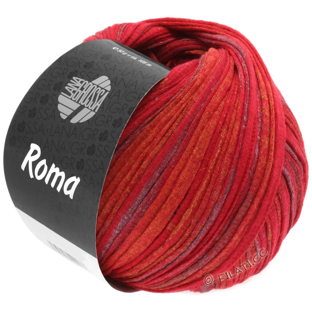 Lana Grossa ROMA | 031-red/golden/silver