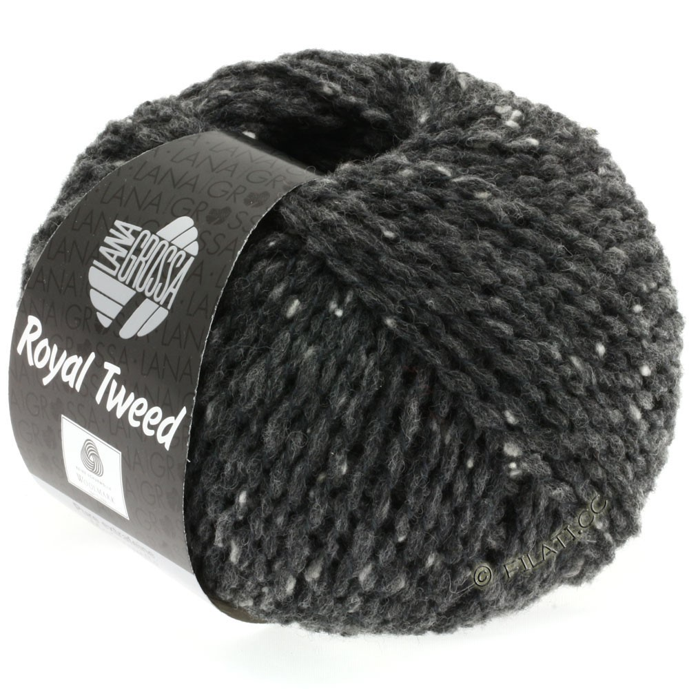 Lana Grossa ROYAL TWEED | 06-anthracite mix