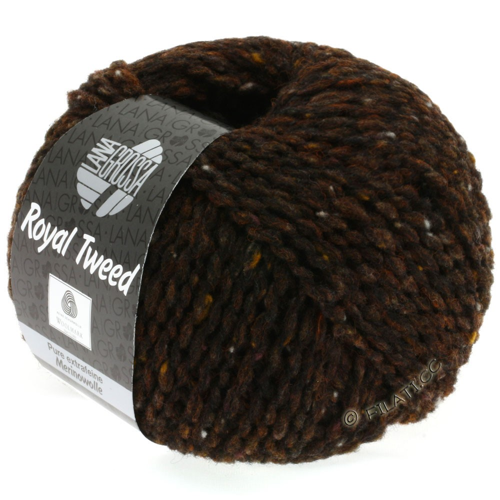 Lana Grossa ROYAL TWEED | 09-dark brown mix