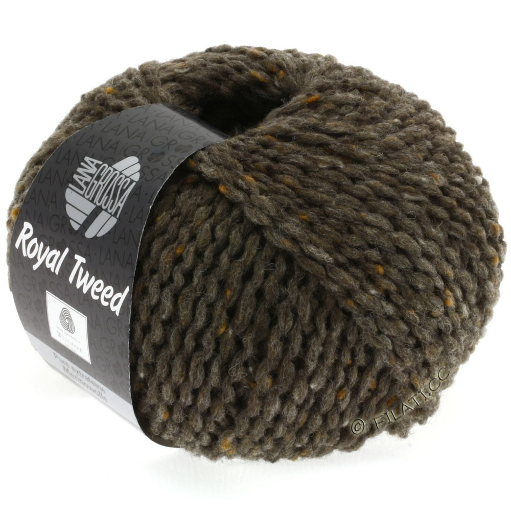Lana Grossa ROYAL TWEED | 12-gray brown mix