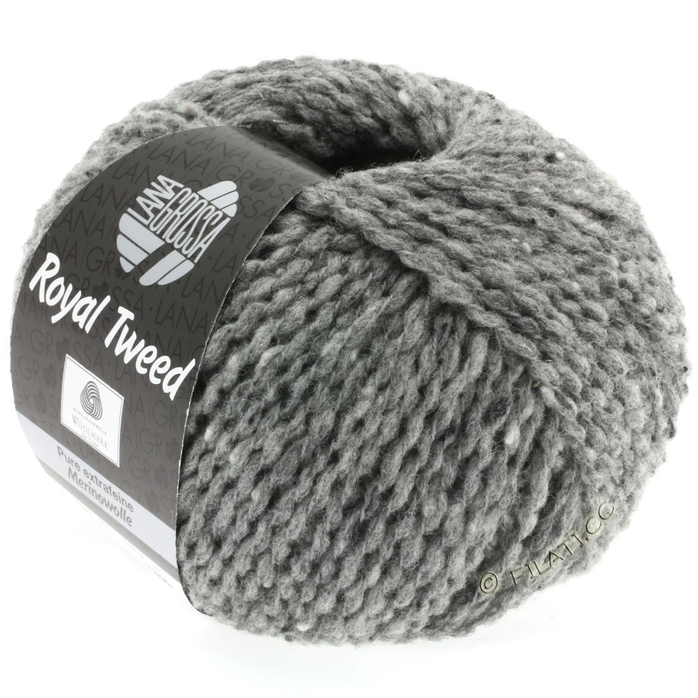 Lana Grossa ROYAL TWEED | 14-dark gray mix