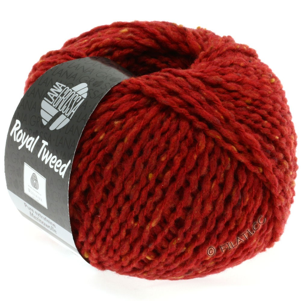 Lana Grossa ROYAL TWEED | 21-brick red mix