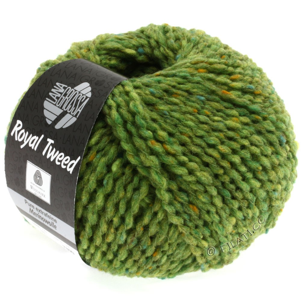 Lana Grossa ROYAL TWEED | 52-light green mix