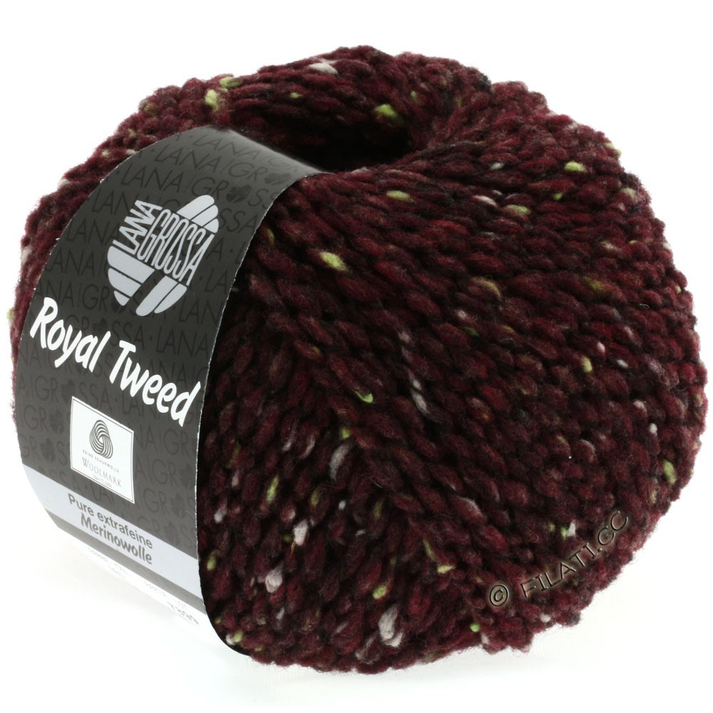 Lana Grossa ROYAL TWEED | 71-burgundy mix