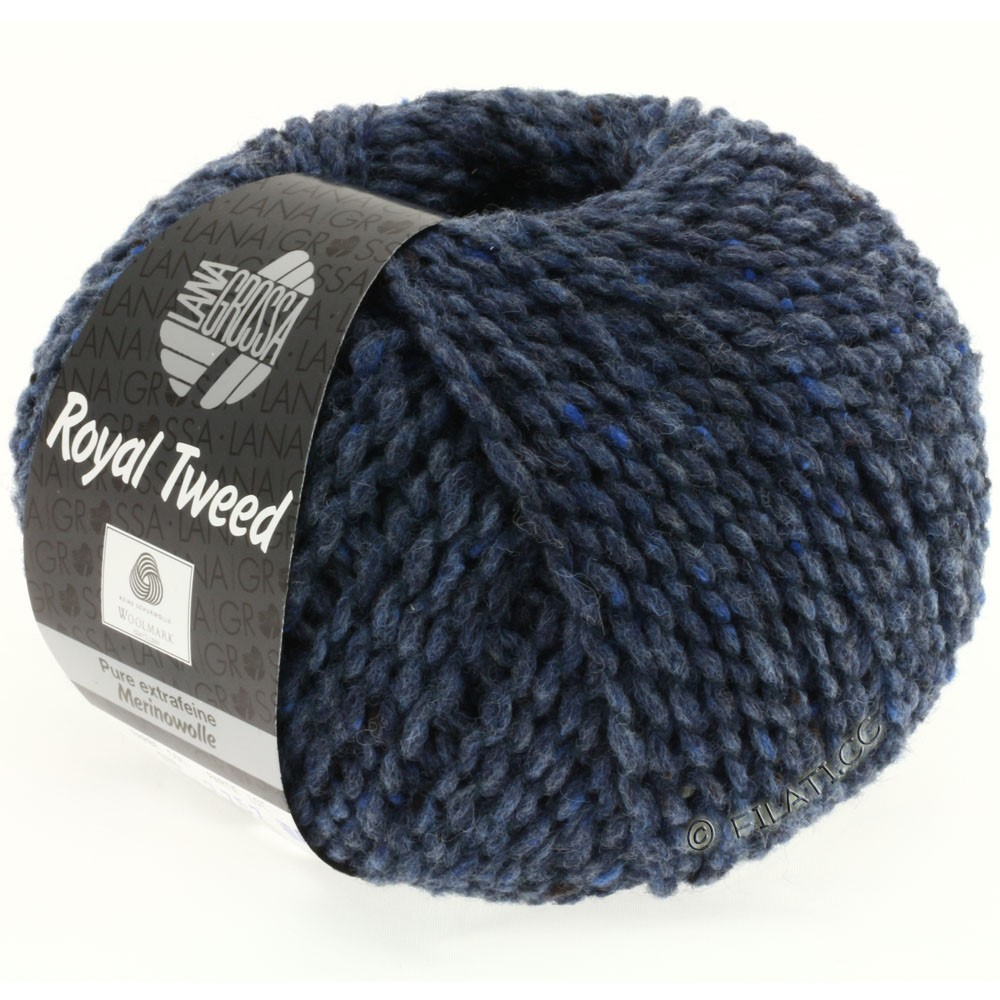 Lana Grossa ROYAL TWEED | 72-steel blue mix