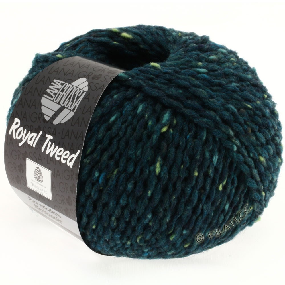 Lana Grossa ROYAL TWEED | 76-dark green mix