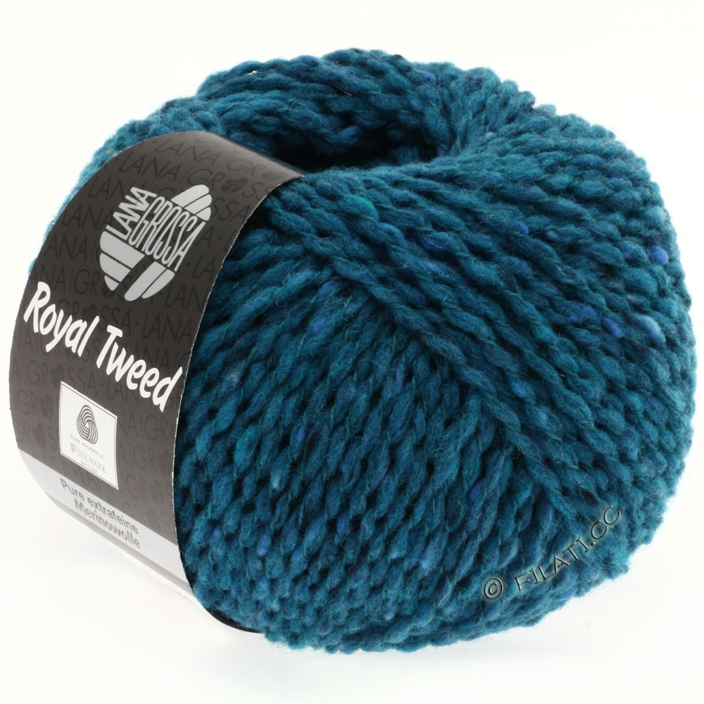 Lana Grossa ROYAL TWEED | 77-petrol blue mix