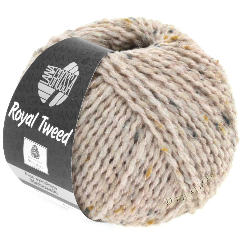Lana Grossa ROYAL TWEED | 81-beige rose mix