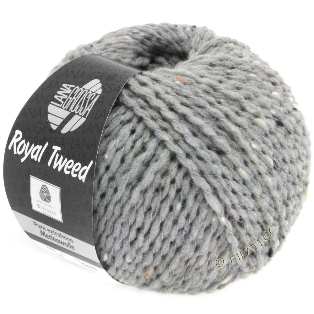 Lana Grossa ROYAL TWEED | 82-light gray mix