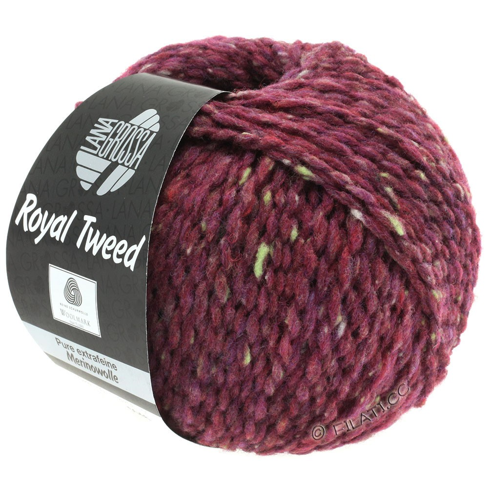 Lana Grossa ROYAL TWEED | 87-bordeaux mottled